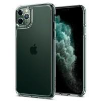 Силиконов калъф кейс Spigen Quartz Hybrit Crystal Clear за iPhone 11 Pro прозрачен