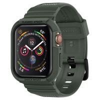 "Силиконов калъф кейс Spigen Rugged Armor ""PRO"" за Apple Watch 4 (44MM) Military Green"