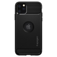 Силиконов калъф кейс Spigen Rugged Armor за iPhone 11 Pro Max ,черен