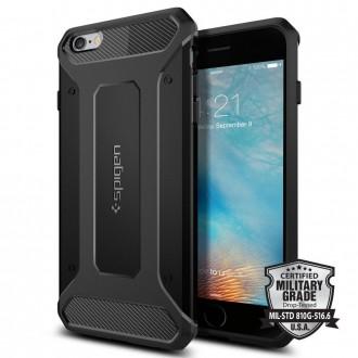 Силиконов калъф кейс Spigen Rugged Armor за iPhone 6 Plus/6S Plus ,черен