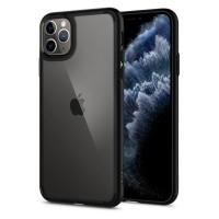 Силиконов калъф кейс Spigen Ultra Hybrit за iPhone 11 Pro Max прозрачен с черна лайсна