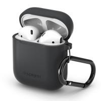 Силиконов калъф кейс Spigen за слушалки Air Pods , сив