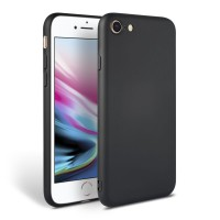 Силиконов калъф кейс TECH-PROTECT Icon за iPhone SE 2020 / iPhone 7 / iPhone 8, черен