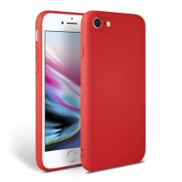 Силиконов калъф кейс TECH-PROTECT Icon за iPhone SE 2020 / iPhone 7 / iPhone 8, червен