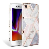 Силиконов калъф кейс TECH-PROTECT Marble за iPhone SE 2020 / iPhone 7 / iPhone 8, розов