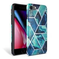 Силиконов калъф кейс TECH-PROTECT Marble за iPhone SE 2020 / iPhone 7 / iPhone 8, син