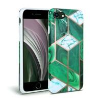 Силиконов калъф кейс TECH-PROTECT Marble за iPhone SE 2020 / iPhone 7 / iPhone 8, зелен
