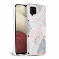 Силиконов калъф кейс TECH-PROTECT Marble за Samsung A12, розов