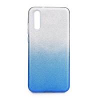 Силиконов калъф кейс за Huawei P20 брокат сиво със синьо