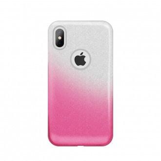 Силиконов калъф кейс за Huawei P20 Lite брокат сиво с розово