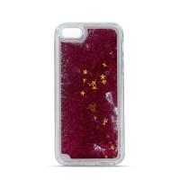 Силиконов калъф кейс за Huawei Y5 2018 течен гел Glitter червен