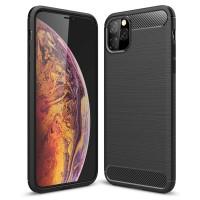 Силиконов калъф кейс за iPhone 11 Pro Max  карбон черен