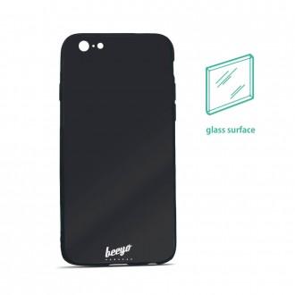 Силиконов калъф кейс за iPhone 5 / iPhone 5s / iPhone SE Beeyo Glass черен