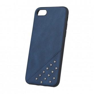 Силиконов калъф кейс за iPhone 5 / iPhone 5s / iPhone SE Beeyo тъмно синя кожа с капси