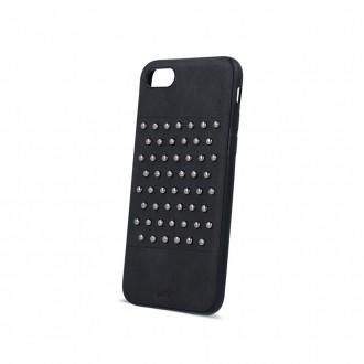 Силиконов калъф кейс за iPhone 5 / iPhone 5s / iPhone SE черна кожа с капси тип 2