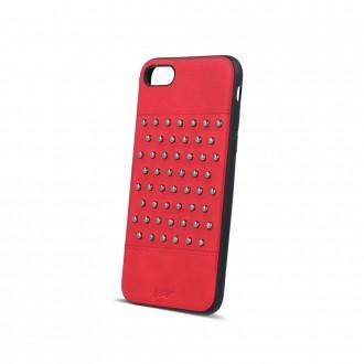 Силиконов калъф кейс за iPhone 5 / iPhone 5s / iPhone SE червена кожа с капси тип 2