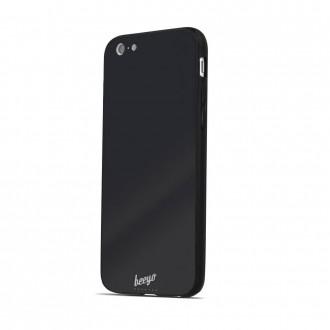 Силиконов калъф кейс за iPhone 6 / iPhone 6s Beeyo Glass черен