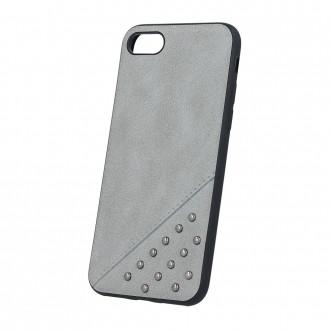Силиконов калъф кейс за iPhone 6 / iPhone 6s Beeyo сива кожа с капси