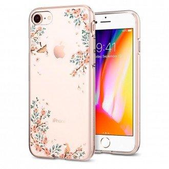 Силиконов калъф кейс за iPhone 7 / iPhone 8 SPIGEN Liquid Crystal Blossom Nature