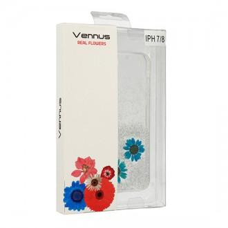 Силиконов калъф кейс за iPhone 7 / iPhone 8 Vennus Real Flower Amelia
