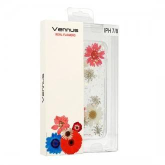 Силиконов калъф кейс за iPhone 7 / iPhone 8 Vennus Real Flower Stella