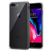 Силиконов калъф кейс за iPhone 7 Plus / 8 Plus Spigen Liquid Crystal 2 прозрачен
