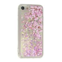 Силиконов калъф кейс за iPhone X / iPhone XS течен гел Vennus Flower 1