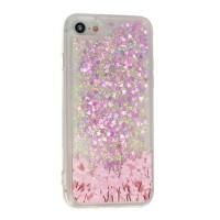Силиконов калъф кейс за iPhone X / iPhone XS течен гел Vennus Flower 2