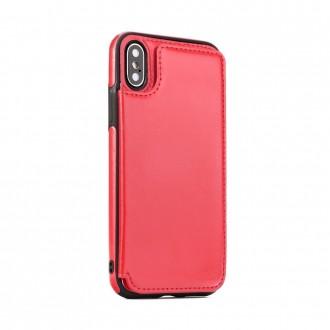 Силиконов калъф кейс за iPhone XS Max Wallet Case червен