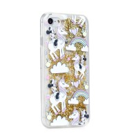Силиконов калъф кейс за iPhone XS / X Disney Minnie Mouse гел златен