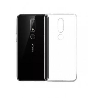 Силиконов калъф кейс за Nokia 3.1 Plus 0.5mm прозрачен