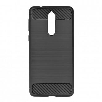Силиконов калъф кейс за Nokia 8 карбон черен