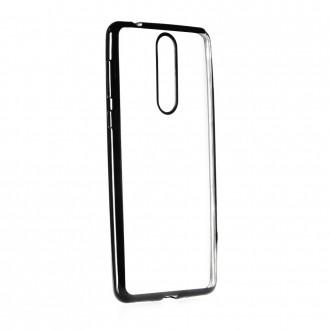 Силиконов калъф кейс за Nokia 8 с лайсна черна
