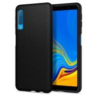 Силиконов калъф кейс за Samsung A750 A7 2018 SPIGEN Liquid Air черен мат