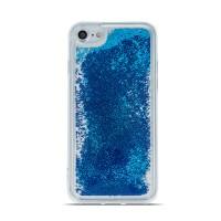 Силиконов калъф кейс за Samsung G925 S6 Edge течен гел Pearl син