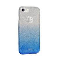 Силиконов калъф кейс за Samsung G930 S7 с брокат син