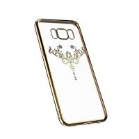Силиконов калъф кейс за Samsung G965 S9 Plus Devia Iris златен АРТ