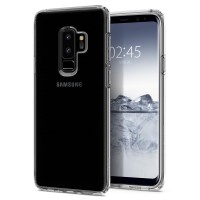 Силиконов калъф кейс за Samsung G965 S9 Plus Spigen Liquid Crystal прозрачен