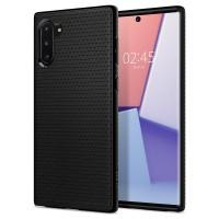Силиконов калъф кейс за Samsung Note 10 SPIGEN LIQUID AIR -Черен