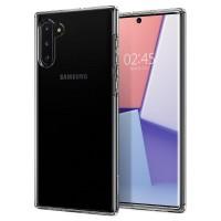 Силиконов калъф кейс за Samsung Note 10 SPIGEN LIQUID CRYSTAL- Прозрачен