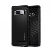 Силиконов калъф кейс за Samsung Note 8 Spigen Rugged Armor Galaxy Note 8 Matte Black