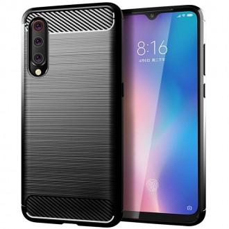 Силиконов калъф кейс за Xiaomi Mi A3 карбон черен
