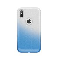 Силиконов калъф кейс за Xiaomi Redmi Note 7 Gradient Glitter с брокат син