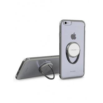 Силиконов калъф кейс Zhuse с пръстен за Iphone 7 / Iphone 8, черна лайсна