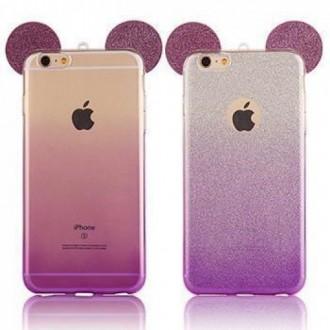 Силиконов калъф за Iphone 5/5s/SE лилави уши