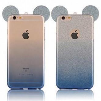 Силиконов калъф за Iphone 5/5s/SE сини уши