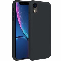 Силиконов кейс Soft Flexible Rubber за iPhone XR черен