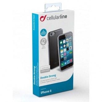 Силиконов подсилен калъф кейс Cellular line Shocking калъф за iPhone 6/6S Plus черен