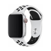 Силиконова каишка Devia Deluxe за Apple Watch 40мм. спортна , бяла