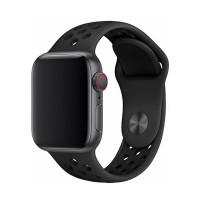 Силиконова каишка Devia Deluxe за Apple Watch 40мм. спортна , черна